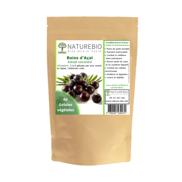 Packaging gelules de Acai