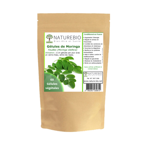 Packaging gelules de Moringa